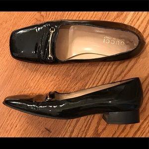 Gucci Square Toe Loafers, Black